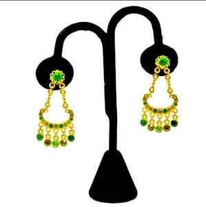 Kenneth J Lane Crystal Chandelier Earrings